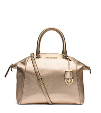Riley Large Metallic Leather Satchel - ONE COLOR - 30S5MRLS3M