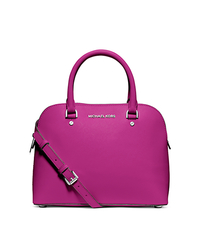 Cindy Medium Saffiano Leather Dome Satchel - ONE COLOR - 30S5SCPS2L