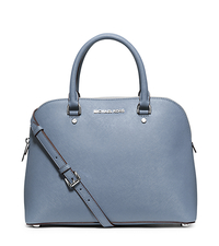 Cindy Large Saffiano Leather Satchel - PALE BLUE - 30S5SCPS3L
