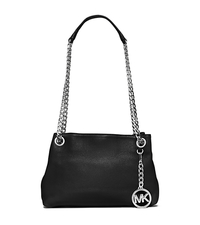 Jet Set Medium Leather Messenger - BLACK - 30S5STCM2L