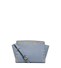 Selma Medium Studded Leather Messenger - PALE BLUE - 30T3GSMM2L