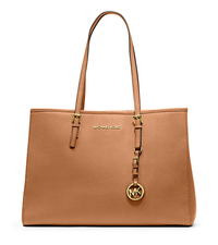 Jet Set Travel Saffiano Leather Tote - PEANUT - 30T3GTVT7L