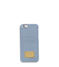 Saffiano Leather Pocket Case For iPhone 6 - PALE BLUE - 32H4GELL3L
