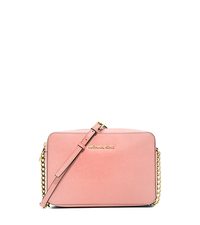 Jet Set Large Saffiano Leather Crossbody - PALE PINK - 32S4GTVC3L