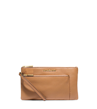 Riley Large Leather Wristlet - PEANUT - 32S5GRLW3L