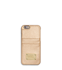 Metallic Saffiano Leather Pocket Case For iPhone 6 - ONE COLOR - 32S5MELL8M