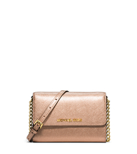 Jet Set Travel Large Metallic Leather Phone Crossbody - ONE COLOR - 32S5MTVC3M