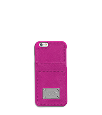 Saffiano Leather Pocket Case For iPhone 6 - FUCHSIA - 32S5SELL3L