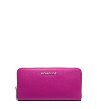 Jet Set Travel Saffiano Leather Wallet - FUCHSIA - 32T4STVE7L