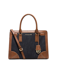 Dillon Denim Satchel - Dark Denim - 30H5GXDS7C