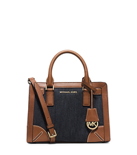 Dillon Small Denim Satchel - Dark Denim - 30H5GXDS5C