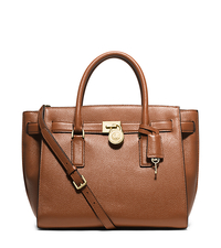 Hamilton Traveler Large Leather Satchel - LUGGAGE - 30H5GHXS3L