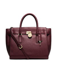 Hamilton Traveler Large Leather Satchel - MERLOT - 30H5GHXS3L