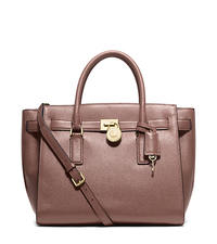 Hamilton Traveler Large Leather Satchel - DUSTY ROSE - 30H5GHXS3L