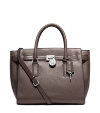 Hamilton Traveler Large Leather Satchel - CINDER - 30H5SHXS3L