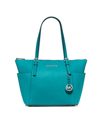 Jet Set Top-Zip Saffiano Leather Tote - TURQUOISE - 30F2STTT8L
