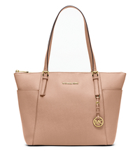 Jet Set Large Top-Zip Saffiano Leather Tote - BLUSH - 30F4GTTT9L