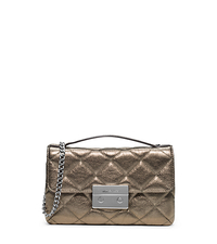 Sloan Small Quilted-Leather Messenger - LIGHT NICKEL - 30F4MSLM1M