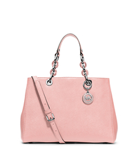 Cynthia Medium Saffiano Leather Satchel - BLOSSOM - 30H3SCYS2L
