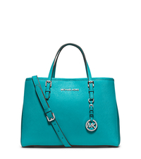Jet Set Medium Saffiano Leather Tote - TURQUOISE - 30H3STVT8L