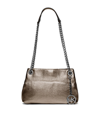 Jet Set Medium Metallic Leather Messenger - GUNMETAL - 30S5MTCM2M