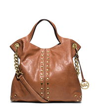 Astor Leather Shoulder Bag - WALNUT - 30T1MUAT7L