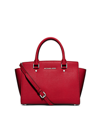 Selma Medium Saffiano Leather Satchel - CHILI - 30T3SLMS2L