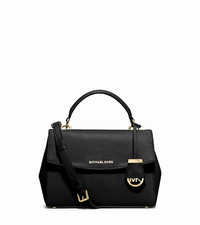 Ava Small Saffiano Leather Satchel - BLACK - 30T5GAVS2L