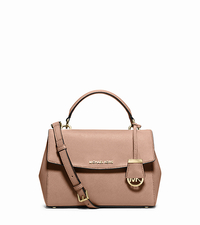 Ava Small Saffiano Leather Satchel - BLUSH - 30T5GAVS2L