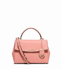 Ava Small Saffiano Leather Crossbody Satchel - PALE PINK - 30T5GAVS2L