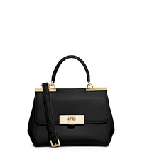 Marlow Small Leather Satchel - BLACK - 30T5GAWS1L
