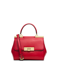 Marlow Small Leather Satchel - CHILI - 30T5GAWS1L