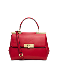 Marlow Medium Leather Satchel - CHILI - 30T5GAWS2L