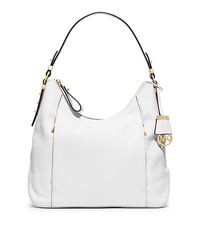 Bowery Large Leather Shoulder Bag - OPTIC WHITE - 30T5GBOL3L