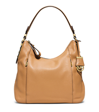 Bowery Large Leather Shoulder Bag - PEANUT - 30T5GBOL3L