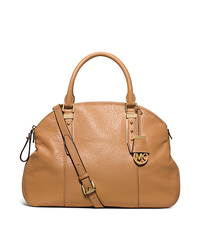 Bowery Large Leather Shoulder Bag - PEANUT - 30T5GBOS3L