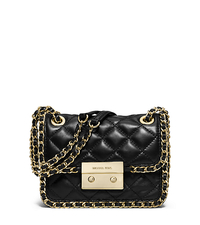 Carine Medium Quilted-Leather Shoulder Bag - BLACK - 30T5GCCL2L