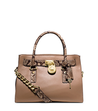 Ava Medium Saffiano Leather Satchel - BLUSH - 30T5TAVS3L