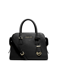 Harper Medium Leather Satchel - BLACK - 30T5GRPS2L
