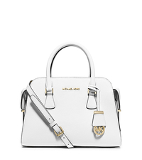 Harper Medium Leather Satchel - OPTIC WHITE - 30T5GRPS2L