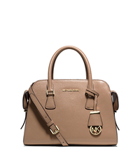 Harper Medium Leather Satchel - DARK KHAKI - 30T5GRPS2L