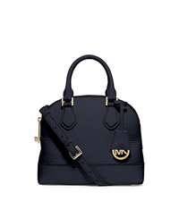 Smythe Small Pebbled-Leather Satchel - NAVY - 30T5GSOS1E