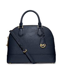 Smythe Large Pebbled-Leather Satchel - NAVY - 30T5GSOS3E