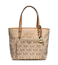 Jet Set Medium Logo Tote - BEIGE/CAMEL/TAN - 30T5GTTT6J