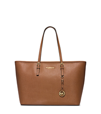 Jet Set Travel Saffiano Leather Top-Zip Tote - LUGGAGE - 30T5GTVT2L