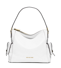 Marly Large Leather Shoulder Bag - OPTIC WHITE - 30T5GYML3L