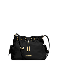 Marly Medium Drawstring Leather Messenger - BLACK - 30T5GYMM2L
