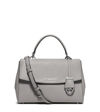 Ava Medium Saffiano Leather Satchel - PEARL GREY - 30T5SAVS3L
