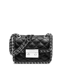 Carine Medium Quilted-Leather Shoulder Bag - BLACK - 30T5SCCL2A