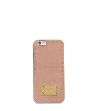Saffiano Leather Pocket Smartphone Case - BLUSH - 32H4GELL3L
